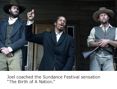 Joel Goldes Dialect Coach for Birth of a Nation
